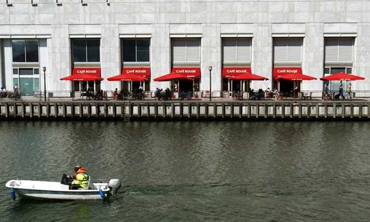 Cafe Rouge Canary Wharf River Thames