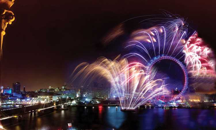 one whitehall nye - fireworks london eye